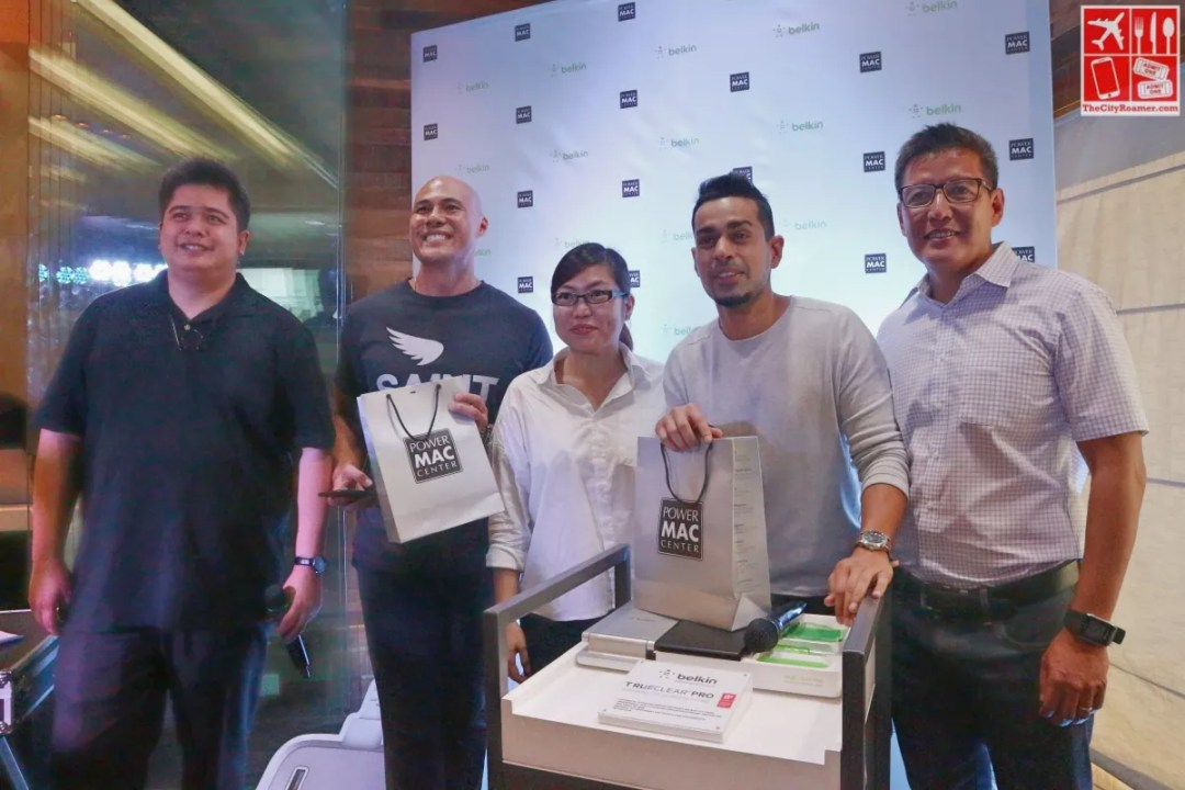At the launch of new Belkin accessories at PMC Rockwell