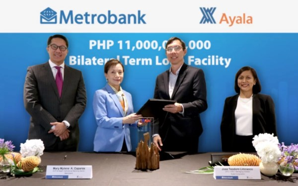 Metrobank and Ayala Corp executives