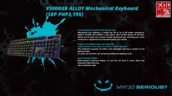 V500RGB Alloy Mechanical Keyboard