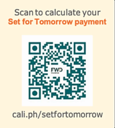 Get started with your financial planning with the Set for Tomorrow Online Calculator QR Code