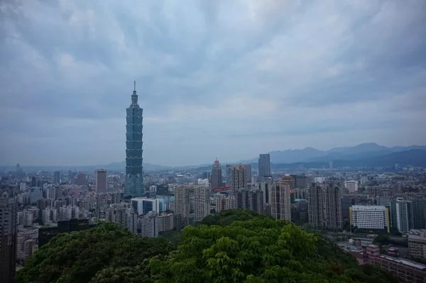 Taipei 101 and the view of the city
