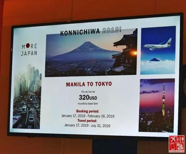 JAL Manila-Tokyo via Haneda special fare