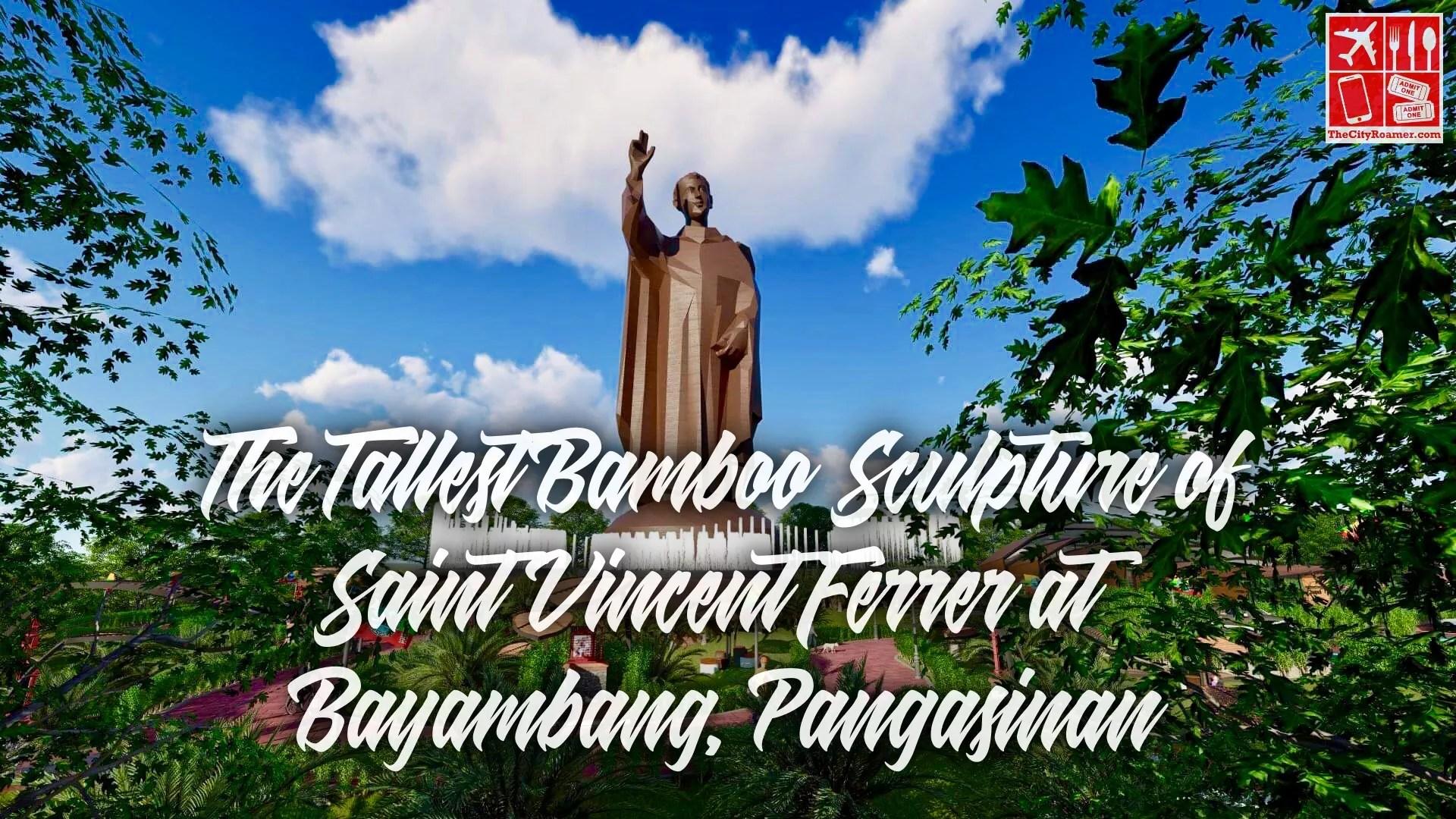 An artist rendition of the tallest bamboo sculpture of Saint Vincent Ferrer