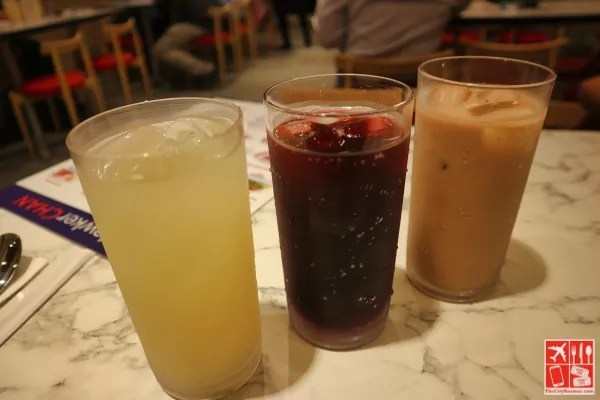 Refreshing Beverages at Hawker Chan