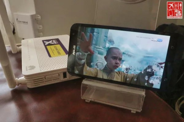 Watching The last Airbender on my Android phone