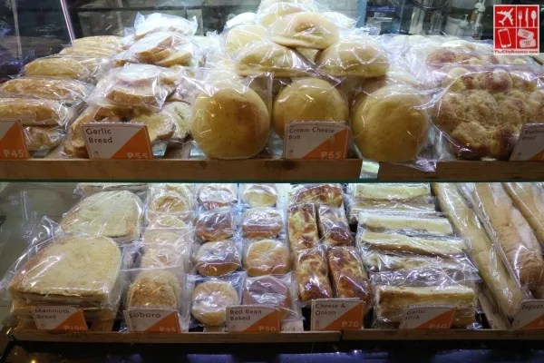 Breads at Papa Kims Korean Bakery