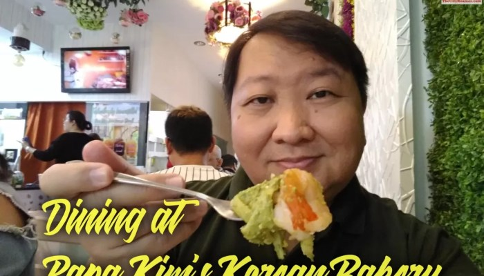 Dining at Papa Kim's Korean Bakery