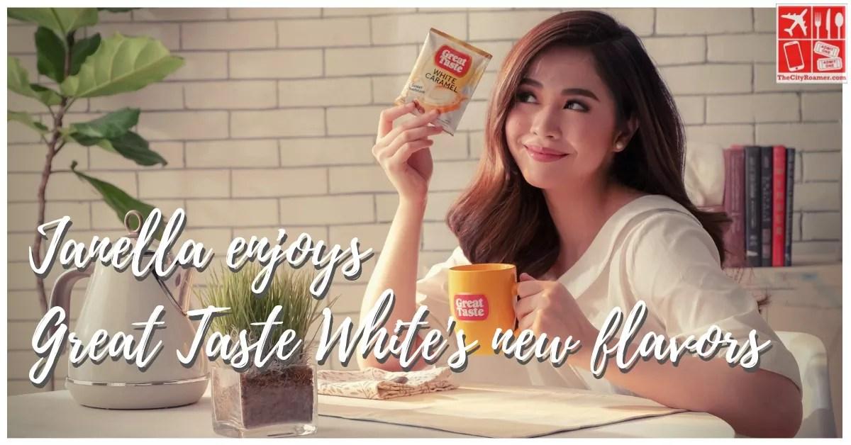 Janella Salvador Enjoys Great Taste White's new flavors