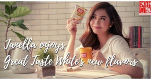 Janella Salvador Enjoys Great Taste White's new flavors