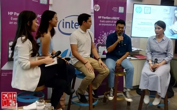bloggers at the panel during the launch of HP Pavilion x360