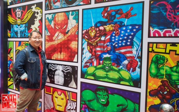 Have your photos taken with the Marvel murals as your background