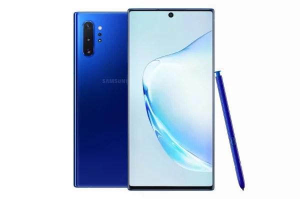 Samsung Galaxy Note 10 in Aura Blue