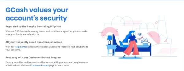 GCash Customer Support page