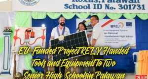 Project RELY Handed Tools and Equipment to Two Senior High Schools in Palawan