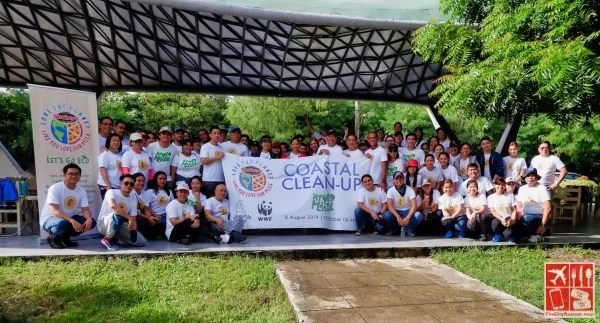 Shakey's partnered with World Wide Fund for Nature for a coastal clean up