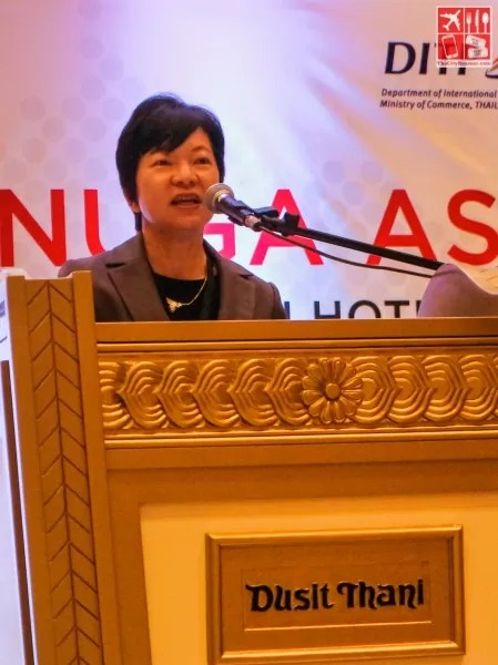 Thailand's Agriculture and Industrial Trade Promotion Director Natiya Suchinda