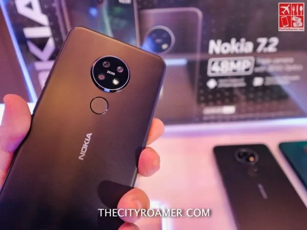 The Camera Setup and Fingerprint Scanner of Nokia 7.2 is at the back