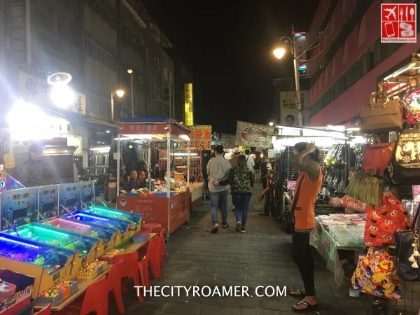 A night market in Wanhua district just outside the hotel