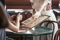 Contactless ordering at the restaurant