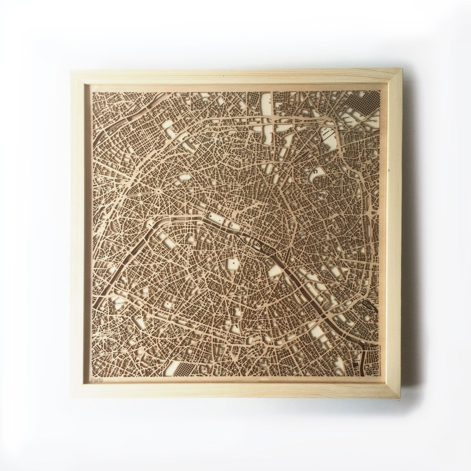 Paris CityWood Minimal Wooden map wood laser cut maps https://thecitywood.com/ CityWood is a wooden map artwork. City streets, water CityWood - Laser Cut Wooden Maps - Award Wining Design by architect and designer Hubert Roguski