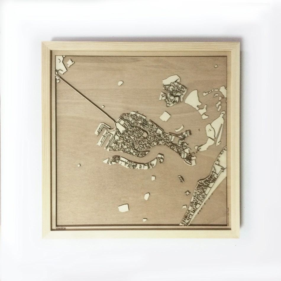 Venice CityWood Minimal Wooden map wood laser cut maps https://thecitywood.com/ CityWood is a wooden map artwork. City streets, water CityWood - Laser Cut Wooden Maps - Award Wining Design by architect and designer Hubert Roguski
