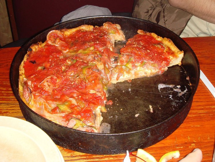 Pizzeria Uno's famous deep dish.