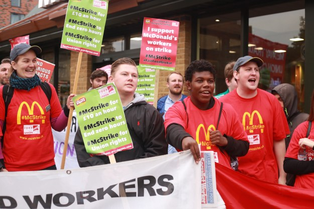 Image result for mcdonald's strike clarion