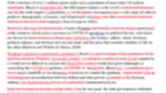 Blurred image of Word document that is half red with corrections.