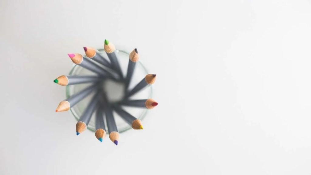 decorative image of pencils