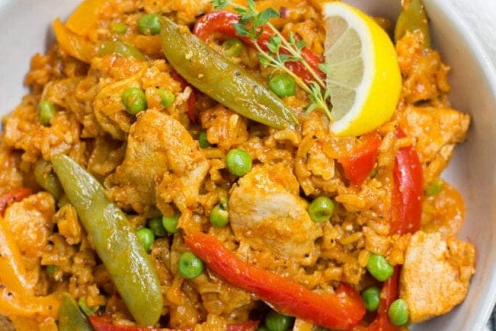 One Pan Healthy Paella