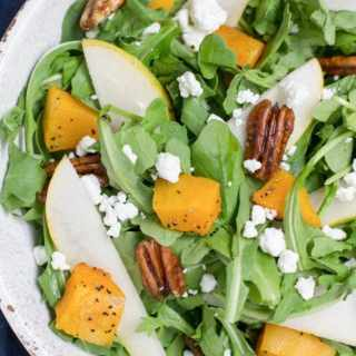 Fall Harvest Salad With Fig Balsamic Vinaigrette
