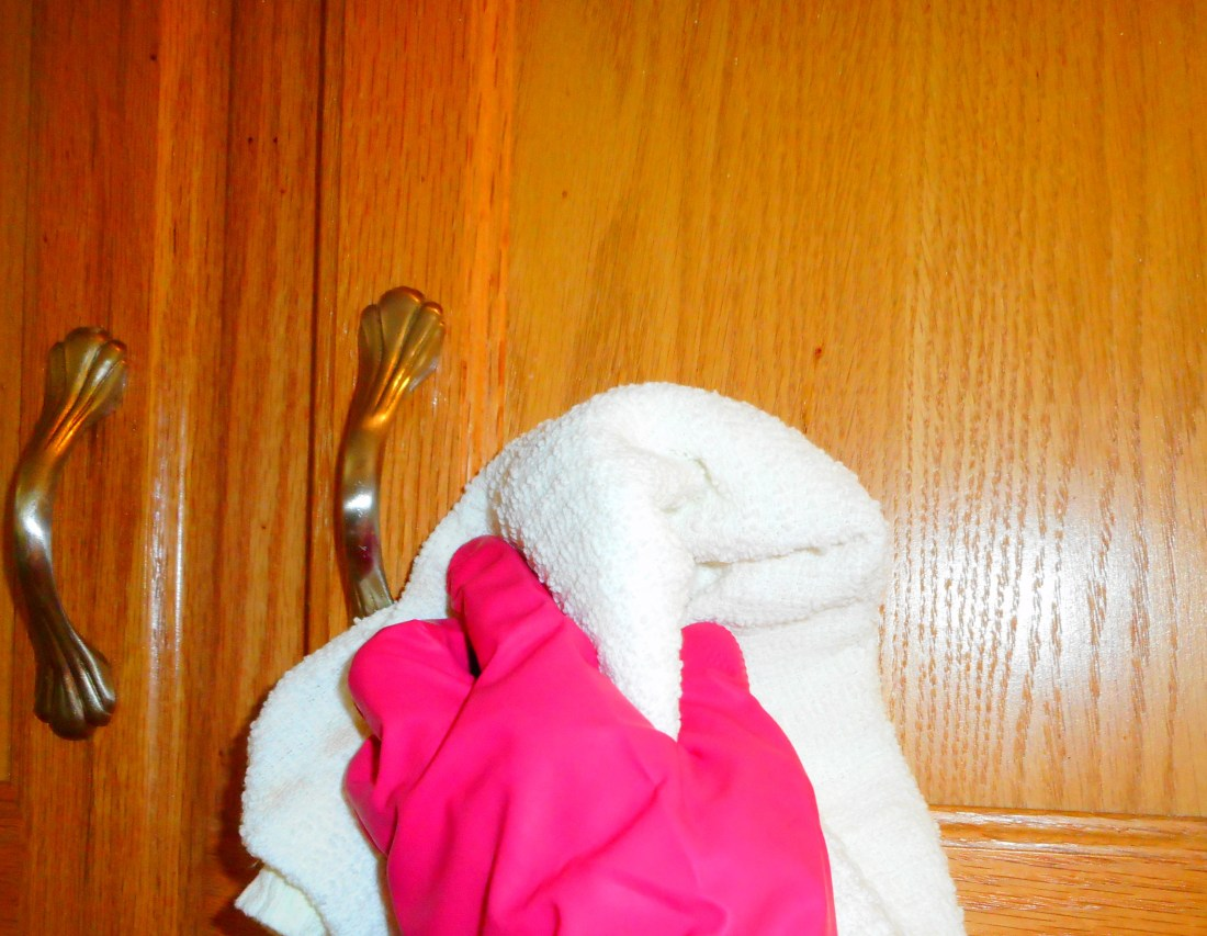 clean cupboard door