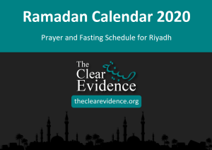 Featured Image - Prayer and Fasting Schedule in Ramadan 2020 in Riyadh (English)