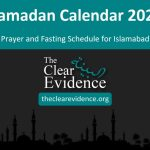 Featured Image - Ramadan Calendar 2020 for Islamabad - The Clear Evidence - theclearevidence.org
