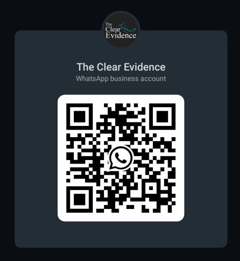Scan this QR code to send WhatsApp Message - New WhatsApp Profile for The Clear Evidence