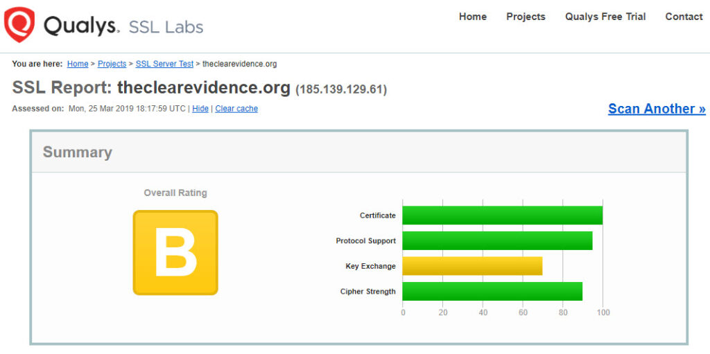 Security Ratings - Qualys FreeScan - The Clear Evidence
