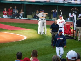 Ceremony at the last game in Cleveland 7.10.14