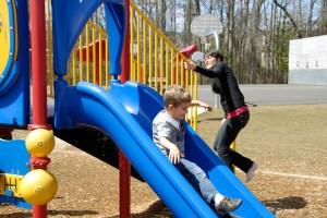 Ethan, Mom, slide-s