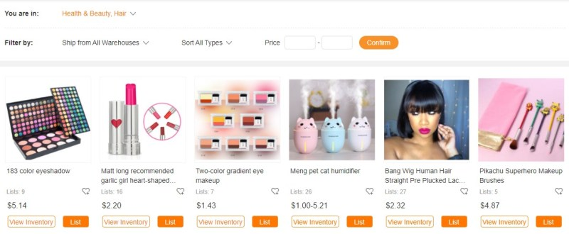 CJDropshipping product page