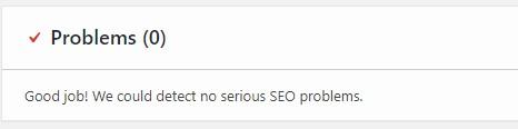 Yoast SEO problems notification