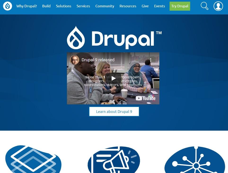 Drupal blogging platform homepage