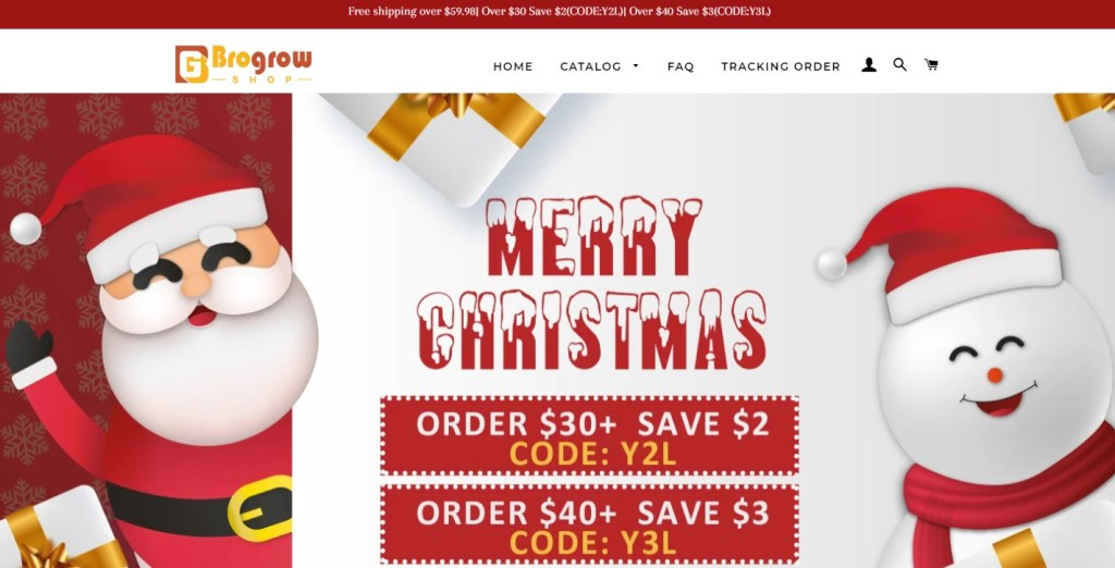 BroGlowShop dropshipping store homepage