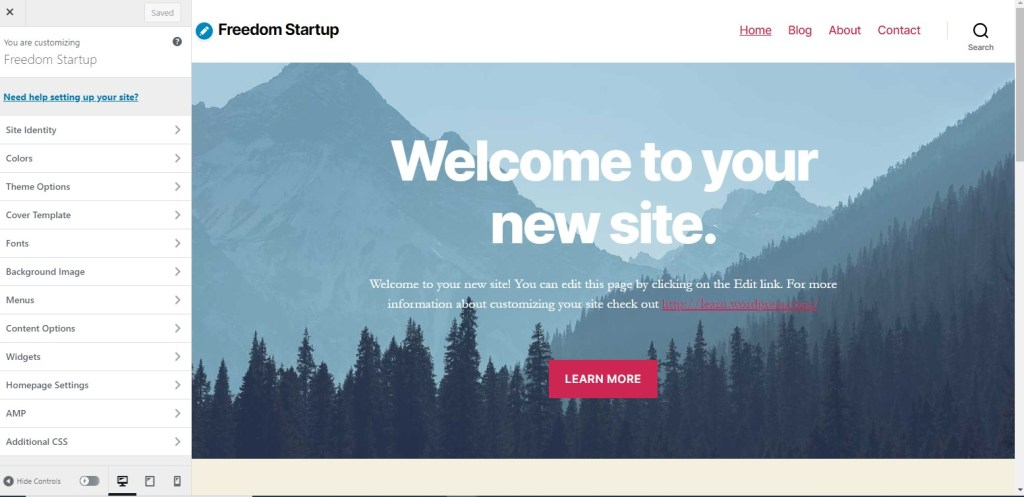 Customize themes in WordPress.com