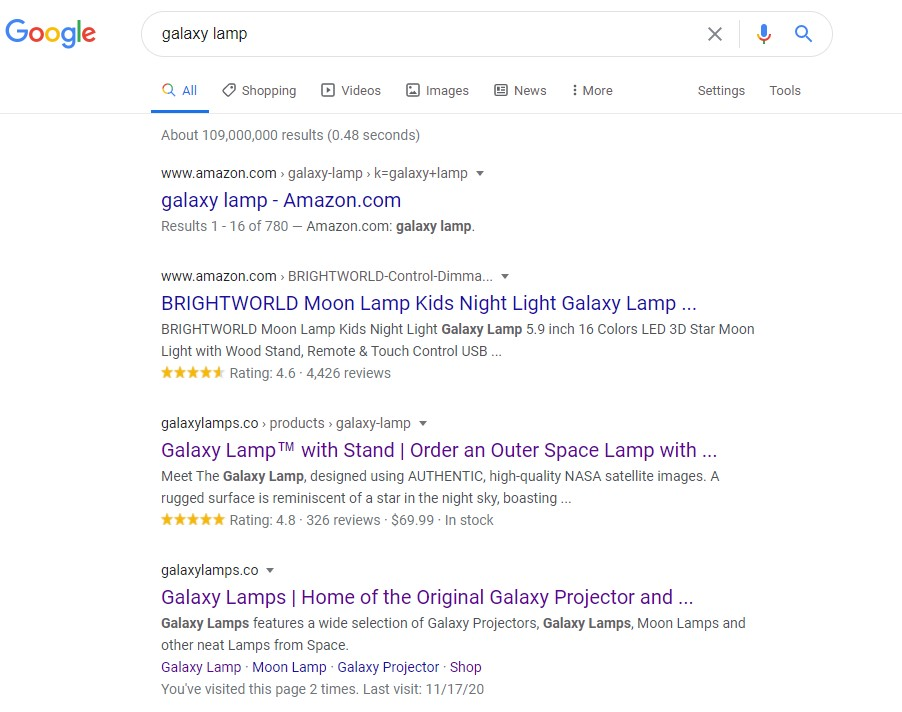 """Google search results for """"galaxy lamp"""""""