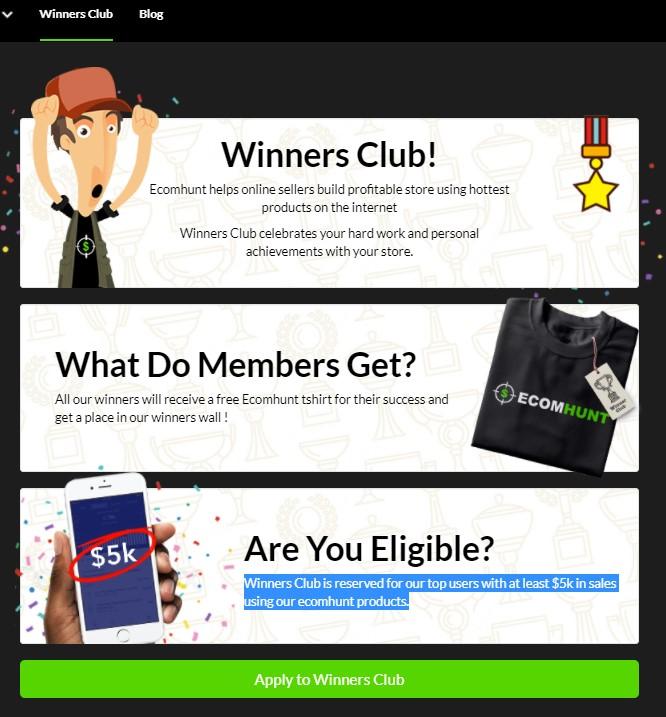 Ecomhunt Winners Club