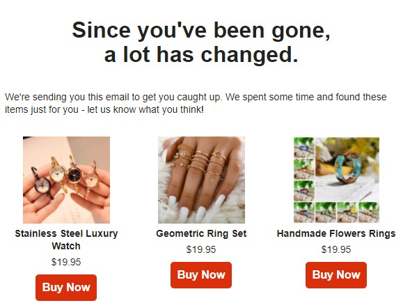 Email marketing to trigger the mere exposure effect