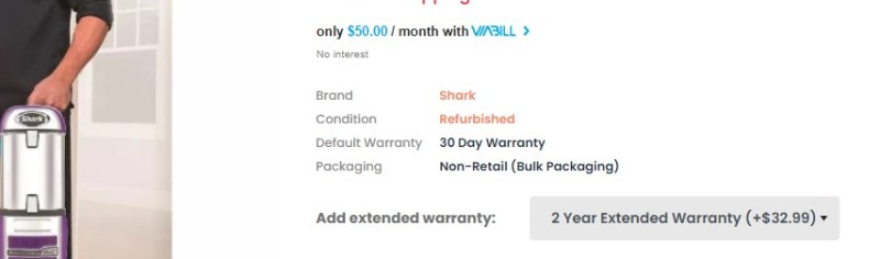 Warranty packages to trigger the zero risk bias