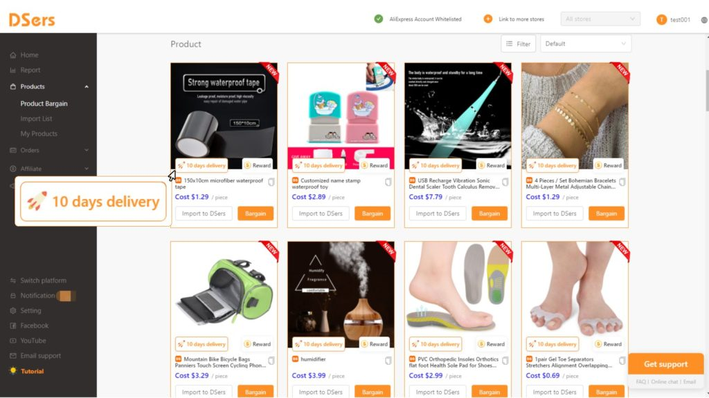DSers free Shopify app