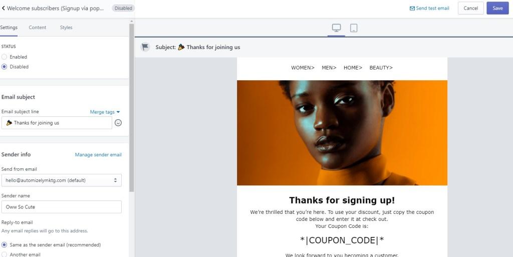 Automizely marketing free Shopify app