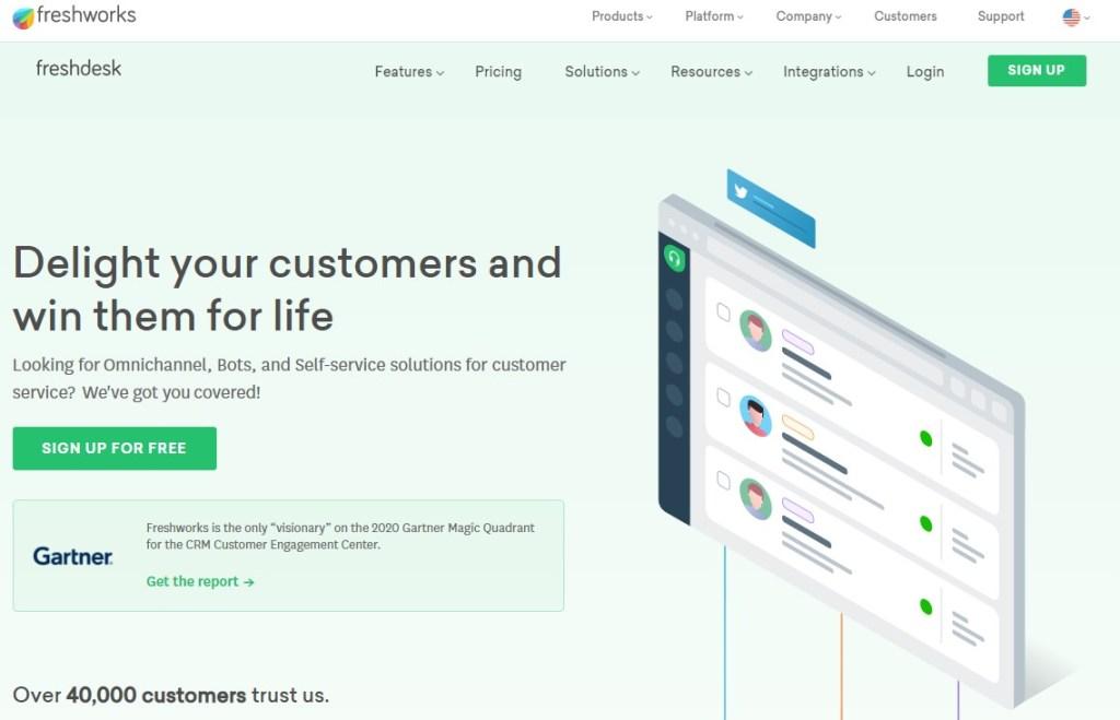 FreshDesk for customer service management